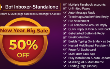 Bot Inboxer – Standalone v2.2 – Multi-account & Multi-page Facebook Messenger Chat Bot