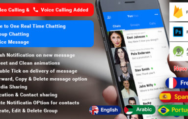 YooHoo v5.3 – Android Chatting App with Voice/Video Calls, Voice messages + Groups – Firebase | Complete App