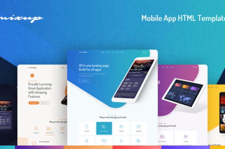 Mixup – App Landing Page HTML Template