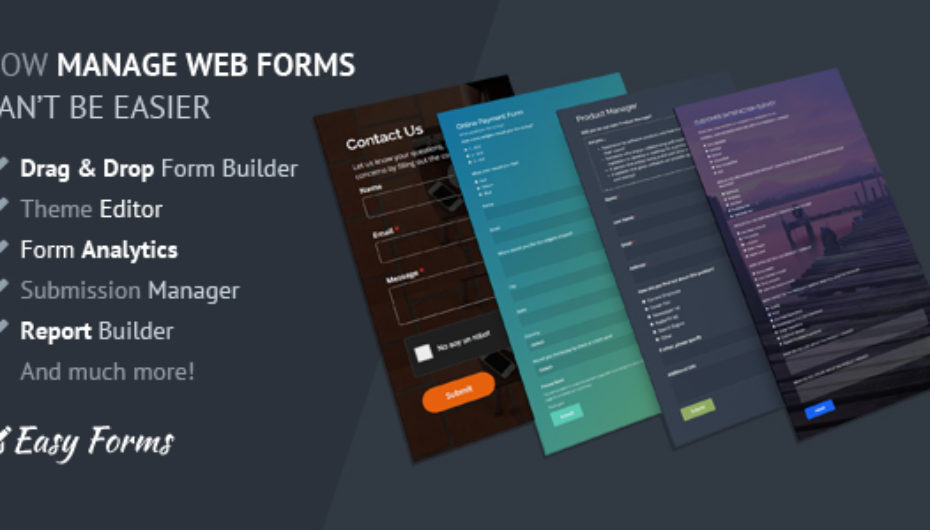 Easy Forms v1.7 – Advanced Form Builder and Manager – nulled