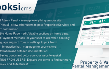 Booksi v1.3 – Property & Vacation Rental Management CMS