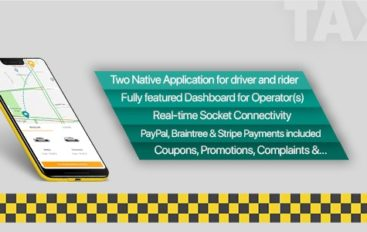 Taxi application Android solution + Dashboard v3.0.7