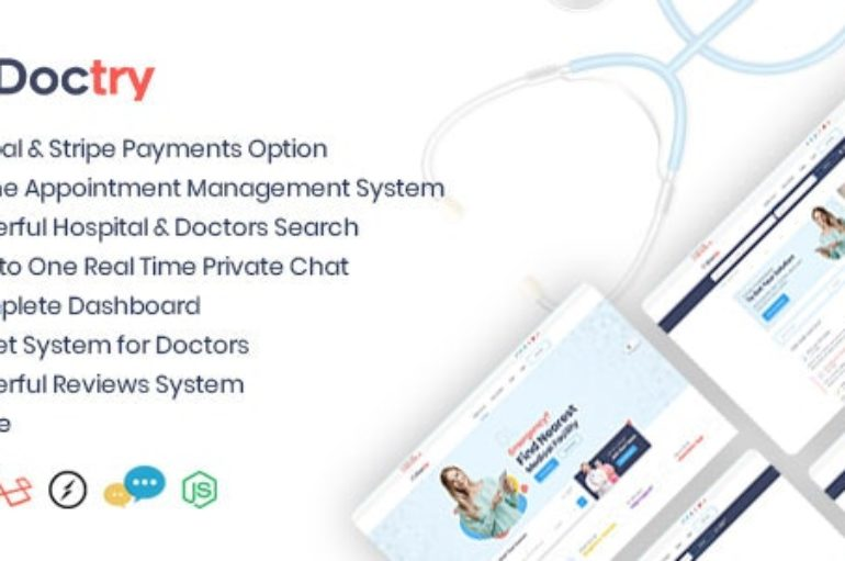 Doctry v1.4 – Doctors and Hospitals Listing Theme